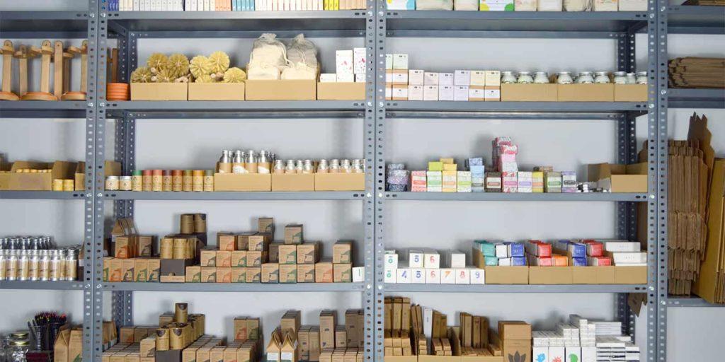 Almacén Cero Residuo productos estantería
