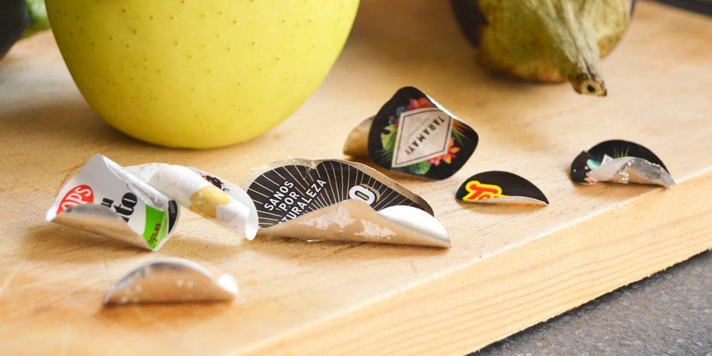 Etiquetar fruta verdura láser alternativa sostenible