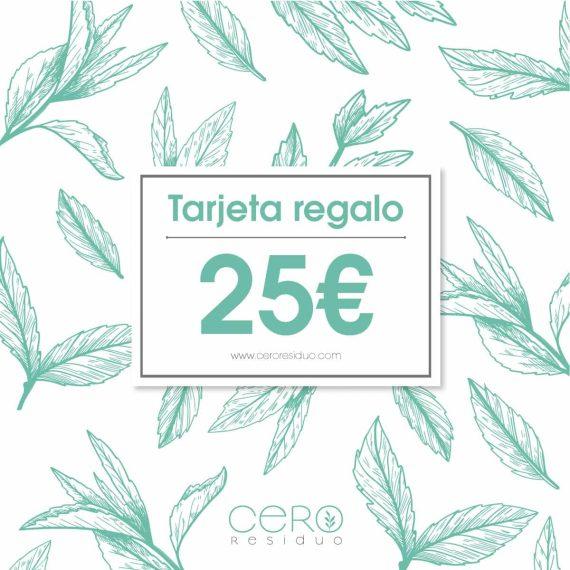 Tarjeta Regalo Cero Residuo valor 25€